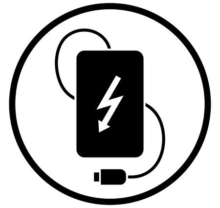 Power bank simple vector UI icon  design Stockfoto - 112217263