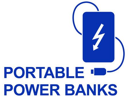 Power bank simple  UI icon  design Illustration
