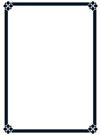 Marco frontera línea página vector vintage simple Ilustración de vector