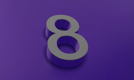 Number Eight in 3D