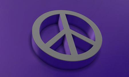 Peace Symbol in 3D