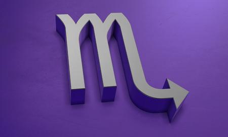 Scorpius Astrology Symbol in 3D