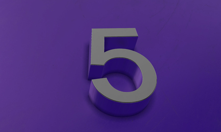 Number Five in 3D