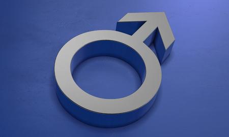 Male Symbol in 3D
