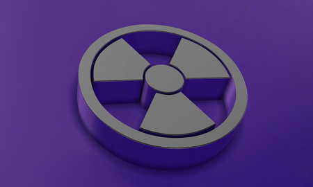 Radioactive Sign in 3D