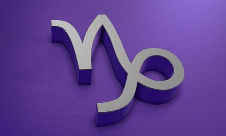 Capricorn Astrology Symbol in 3D