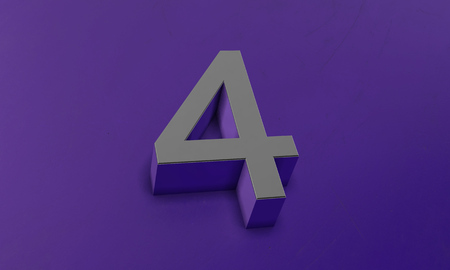 Number Four in 3D