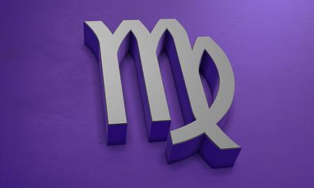 Virgo Astrology Symbol in 3D