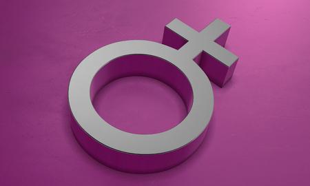 Female Symbol in 3D Banco de Imagens