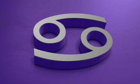 Cancer Astrology Symbol in 3D