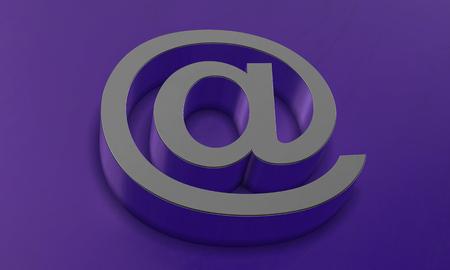 Email Symbol in 3D Banco de Imagens
