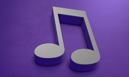 Musical Note Sign in 3D Banco de Imagens