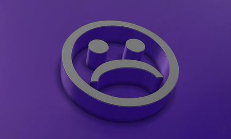 Sad Face in 3D Banco de Imagens