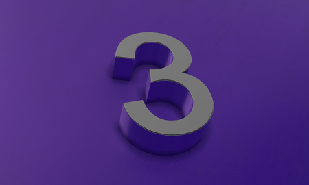 Number Three in 3D