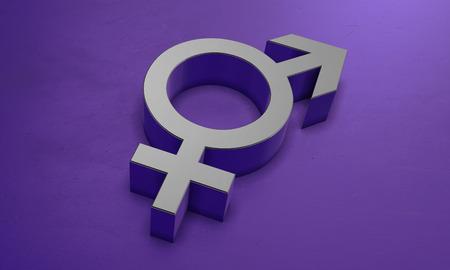 Sign of gender in 3D Banco de Imagens