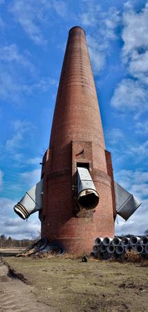 Huge chimney panorma Reklamní fotografie