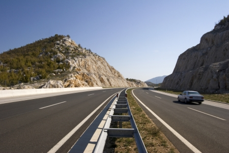 notch: Notch on the highway A1 in the hinterland of town Split in Croatia Stock Photo