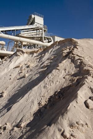 Limestone quarry with modern crushing and screening equipment  photo