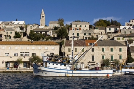 brac: Povlja, fishermans and touristic village on northeast side of Brac island, Croatia