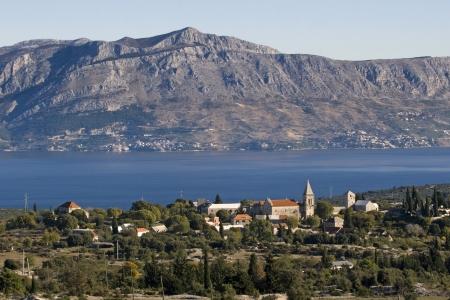 brac: Village Skrip on Brac island in Croatia