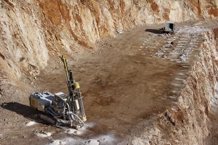Preparation for demolishing in a rock quarry near Split, town in Croatia