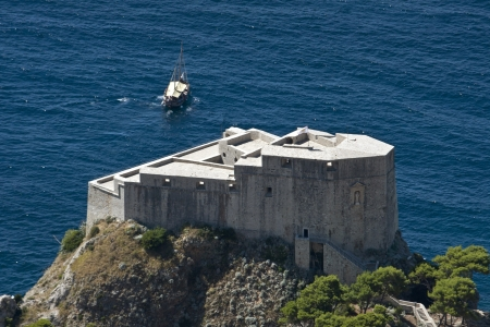 Fort Lovrijenac  is a fortress and theater located outside the western wall of the city of Dubrovnik in Croatia