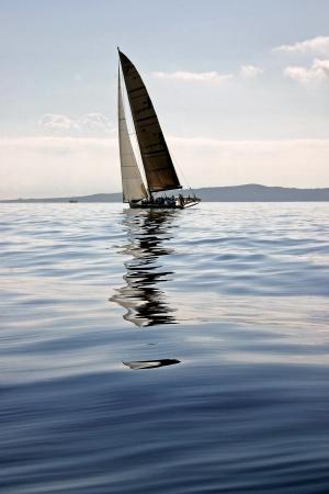 Sailing along the adriatic coast in Croatia photo