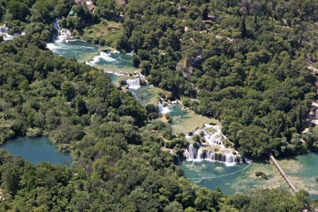 Krka River with its waterfalls is a spacious, largely unchanged region of exceptional and multifaceted natural value photo