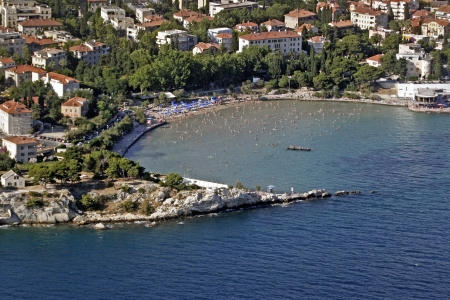 Bacvice bay and famous city beach in Split in Croatia