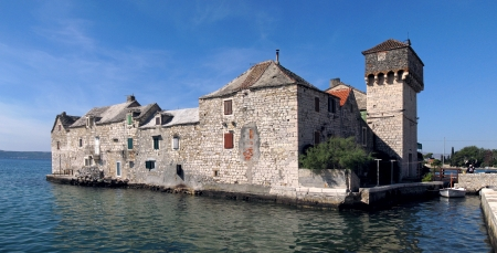 Kastel Gomilica one of seven settlement of town Kastela in Croatia