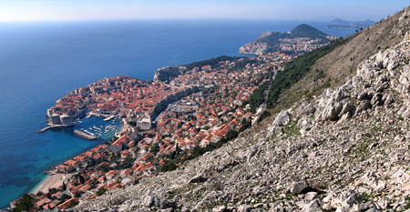 srd: Dubrovnik panorama, east side of old town from Srd hill