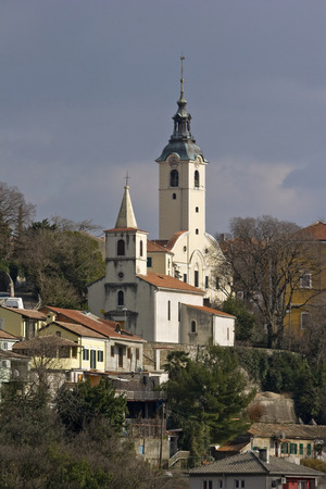 Church of Our Lady of Trsat and church of St George, town Rijeka, Croatia