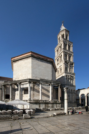 Cathedral of St Domnius and mausoleum of roman emperor Diocletian, Split in Croatia Editorial