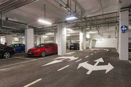 Public underground garage in business house in centre of town Dubrovnik in Croatia