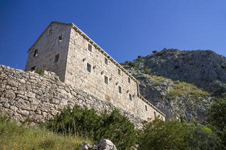 Hermitage Draceva port, ruins of abandoned catholic monastery near Murvica, Brac Island, Croatia