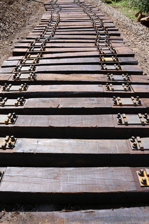 Railway sleepers for maintenance railroad in Croatia Фото со стока