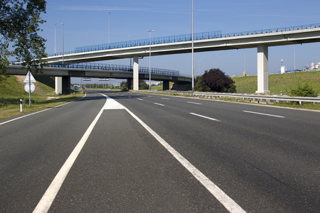 Highway near capital Zagreb in Croatia, south entrance to town