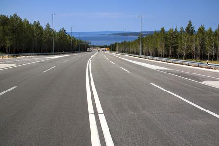 Four lane road from Biokovo mountain to Adriatic coast Фото со стока