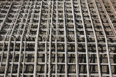 Reinforced concrete, steel bar structure for concrete fundaments