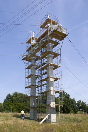 Renovation of concrete pylons of power line