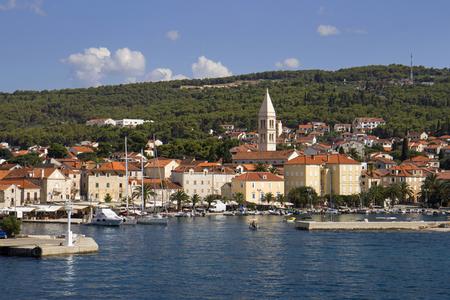 Town Supetar biggest village on island Brac in Croatia