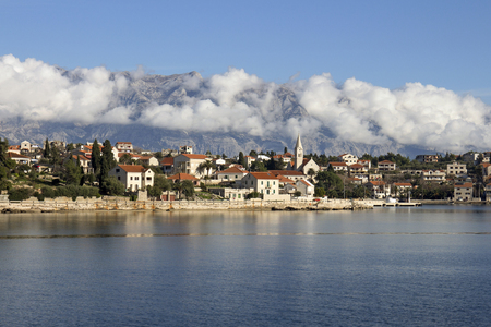 Sumartin typical mediterranean village on southeast of island Brac in Croatia Фото со стока
