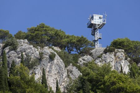 Fire protection watchtower on Marjan hill in town Split, Croatia