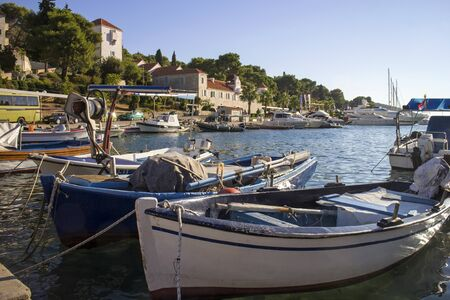Summer afternoon in settlement Maslinica on Solta island in Croatia