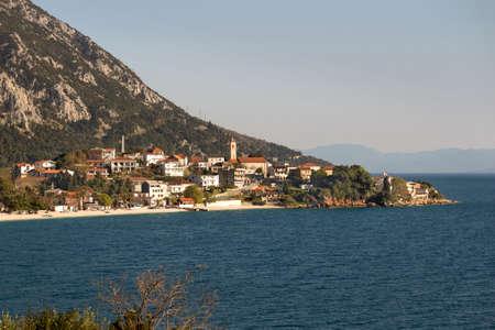 Gradac tourist village on Makarska riviera on Adriatic coast under Biokovo mountain