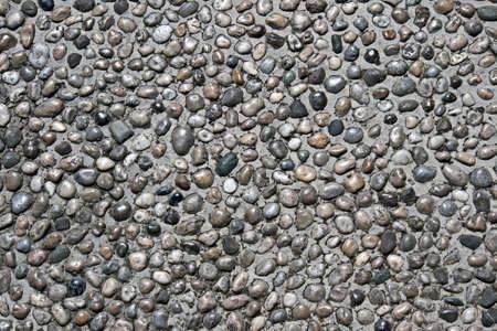 Sidewalk with pebble stone in Mostar near old bridge, Bosnia and Herzegovina