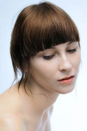 calm girl portrait 免版税图像