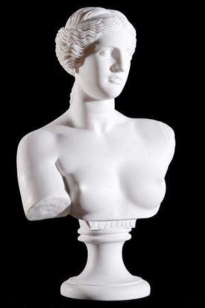 White marble bust, part of classic statue
