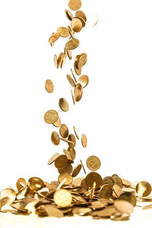 落下のゴールド コイン 写真素材 - 24194959