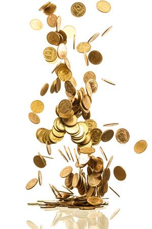 fallende Goldmünzen